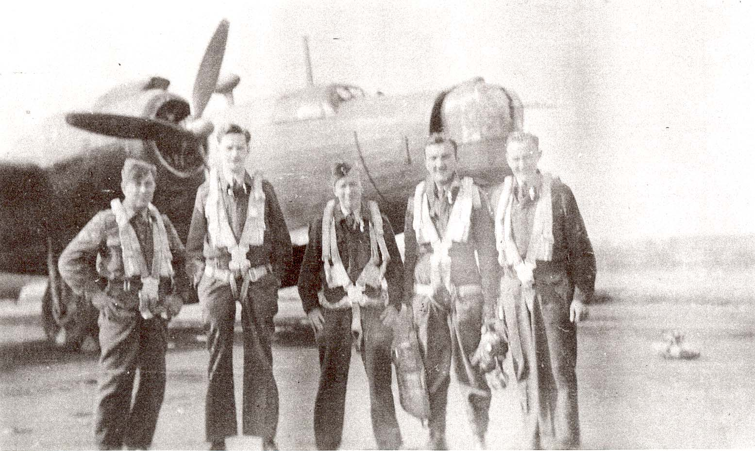 flight crew WWII Lancaster before take off