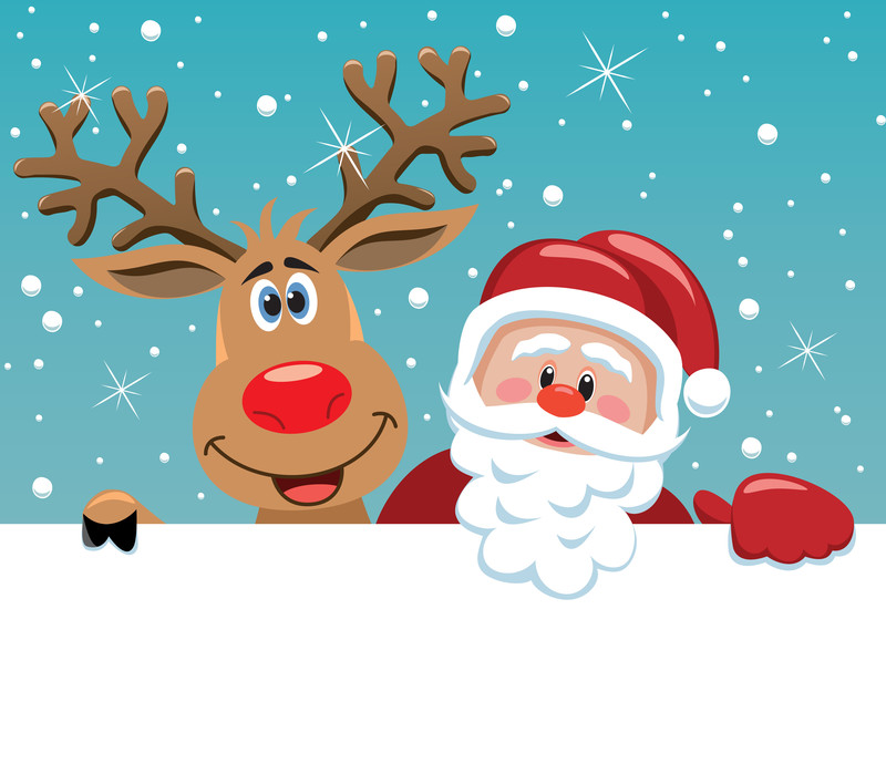 canstockphoto7757605_santa_reindeer_freesoulproduction - Santa And The North Pole