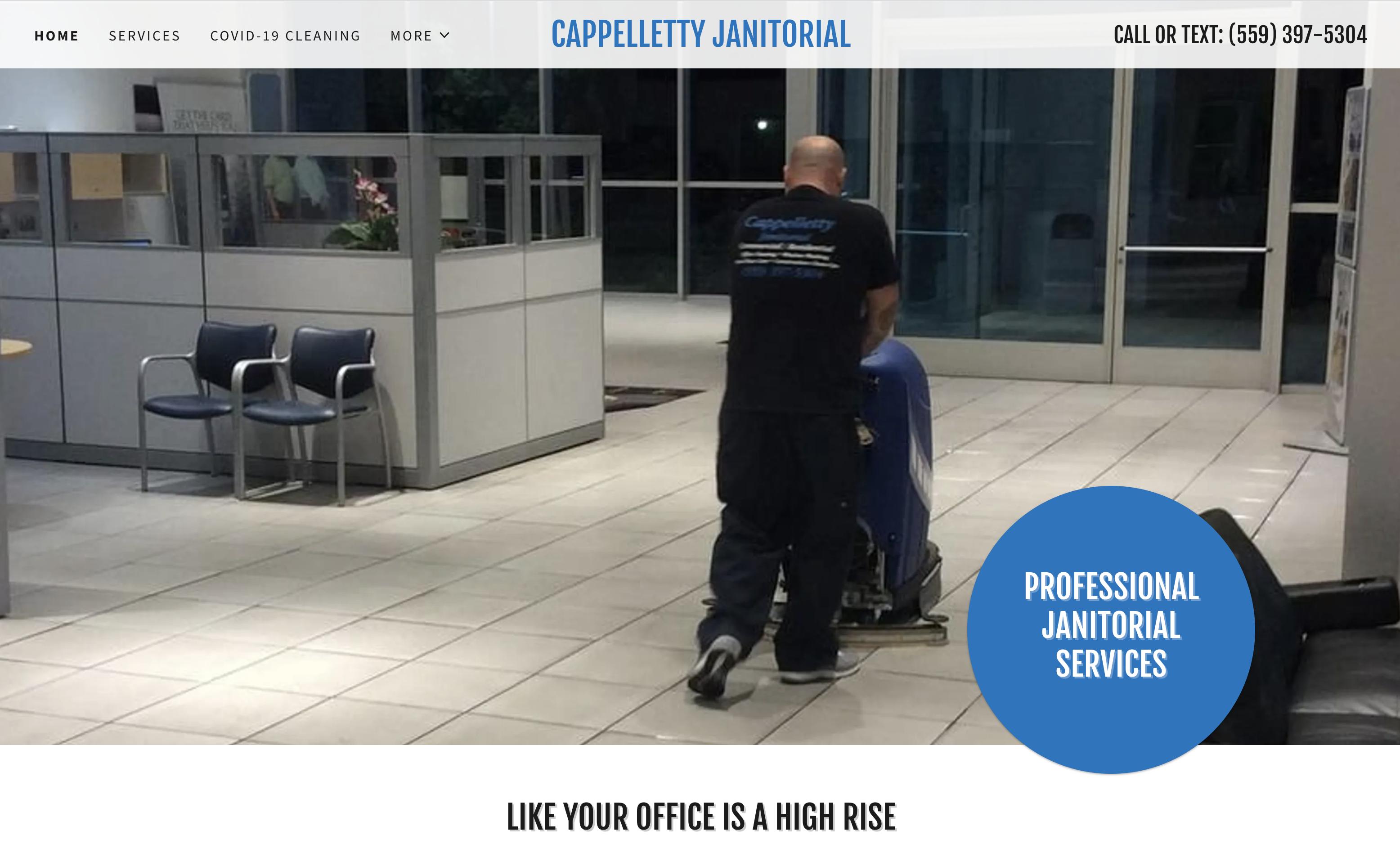 Man pushing floor cleaner.