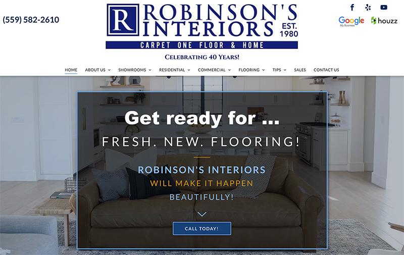 Robinson's Interiors Content / SEO Fresno, CA