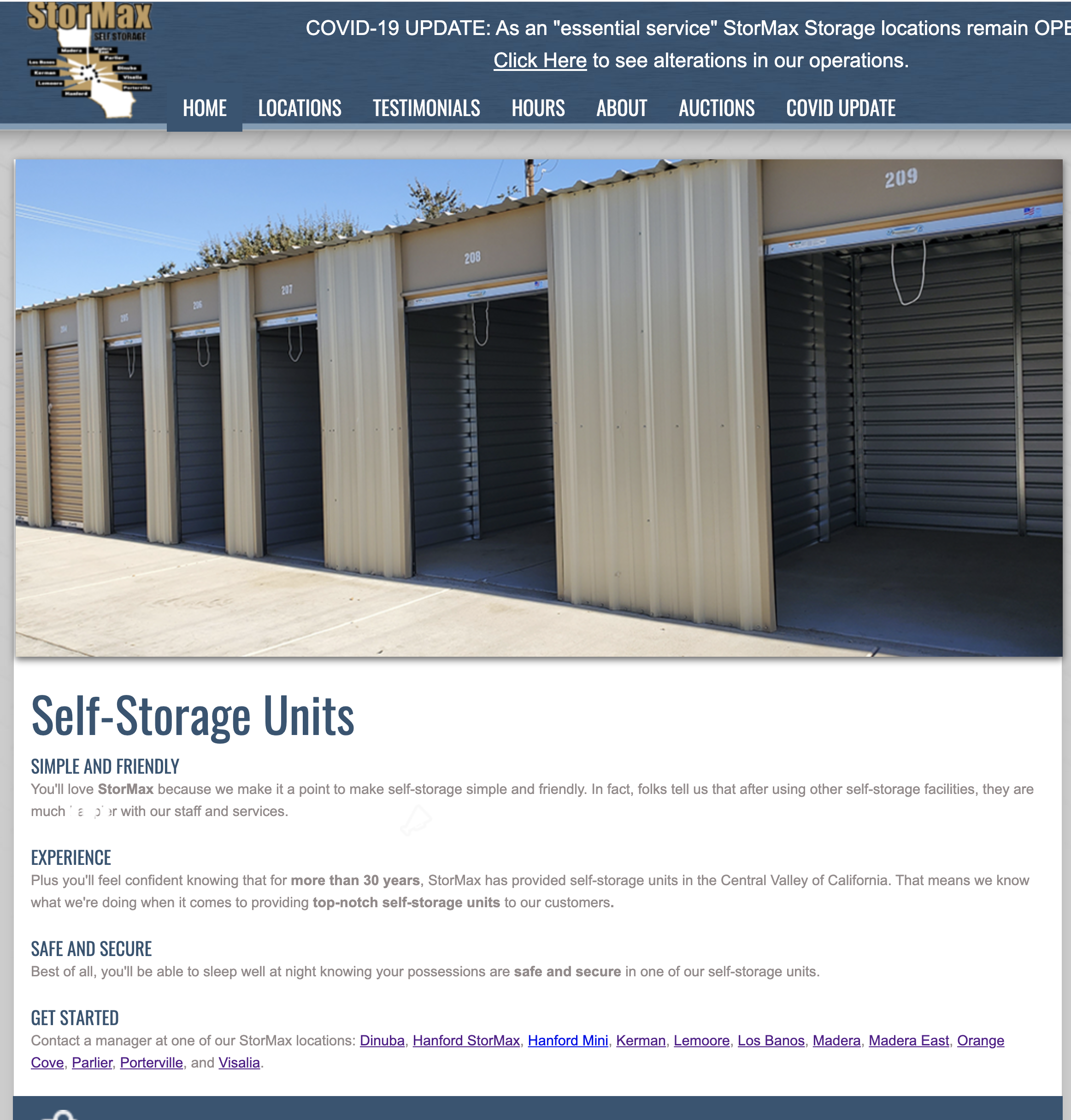 StorMax Storage